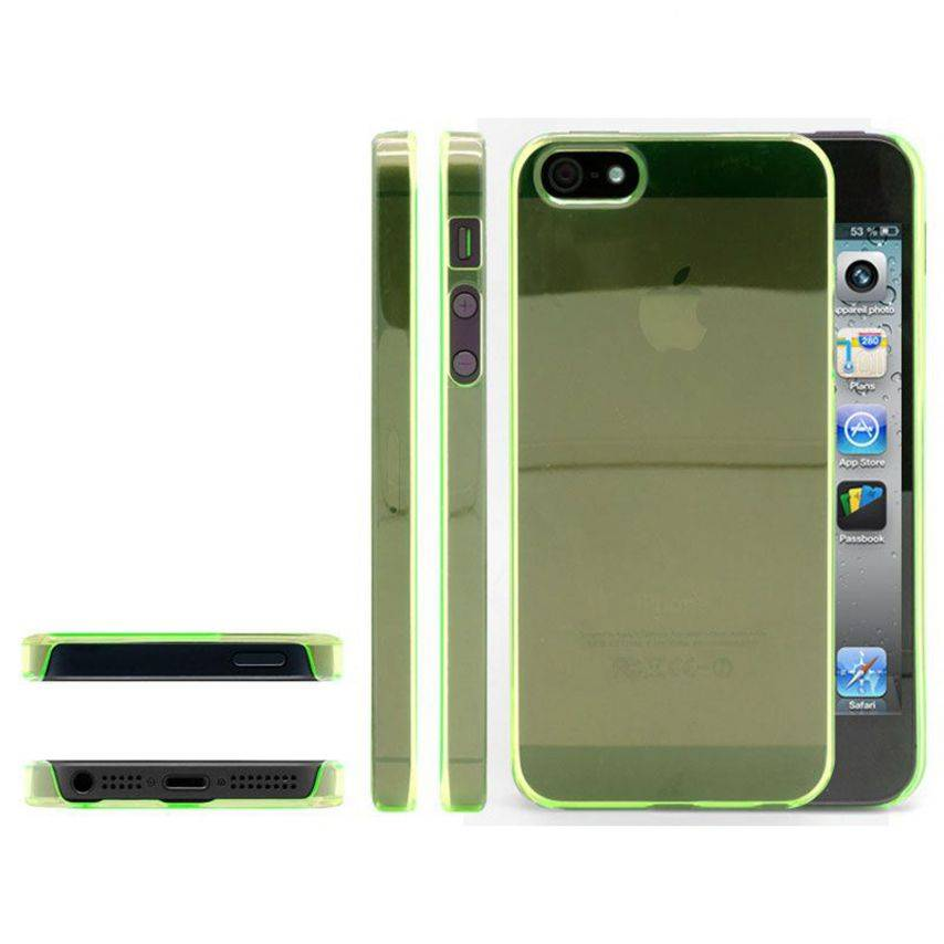Photo réelle de Coque Crystal iPhone 5 Vert