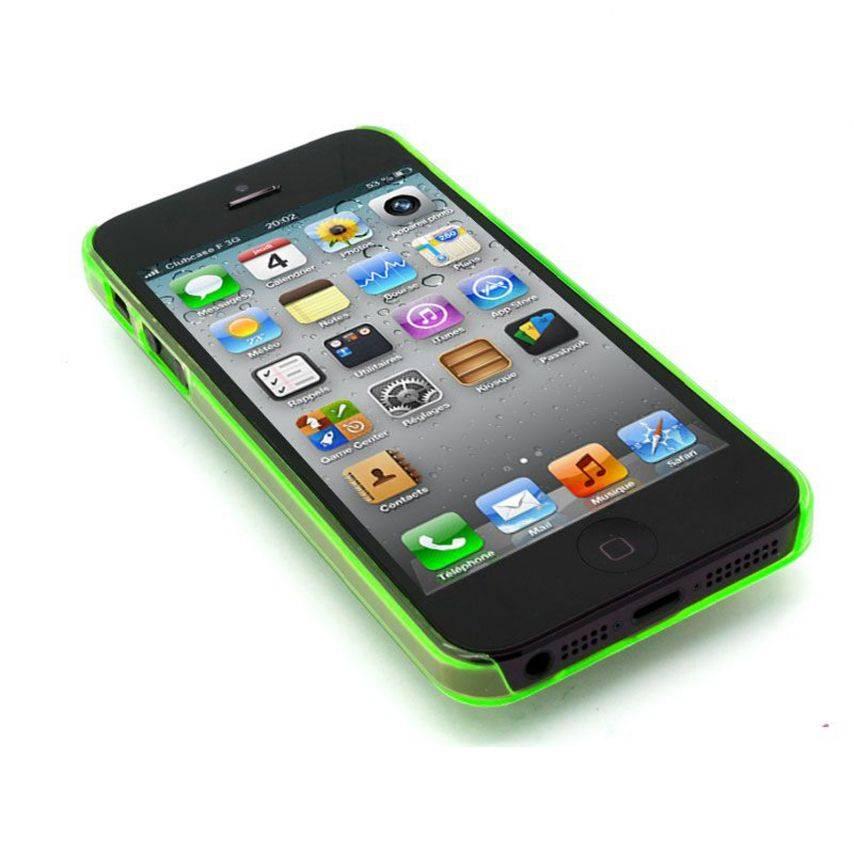 Vue portée de Coque Crystal iPhone 5 Vert