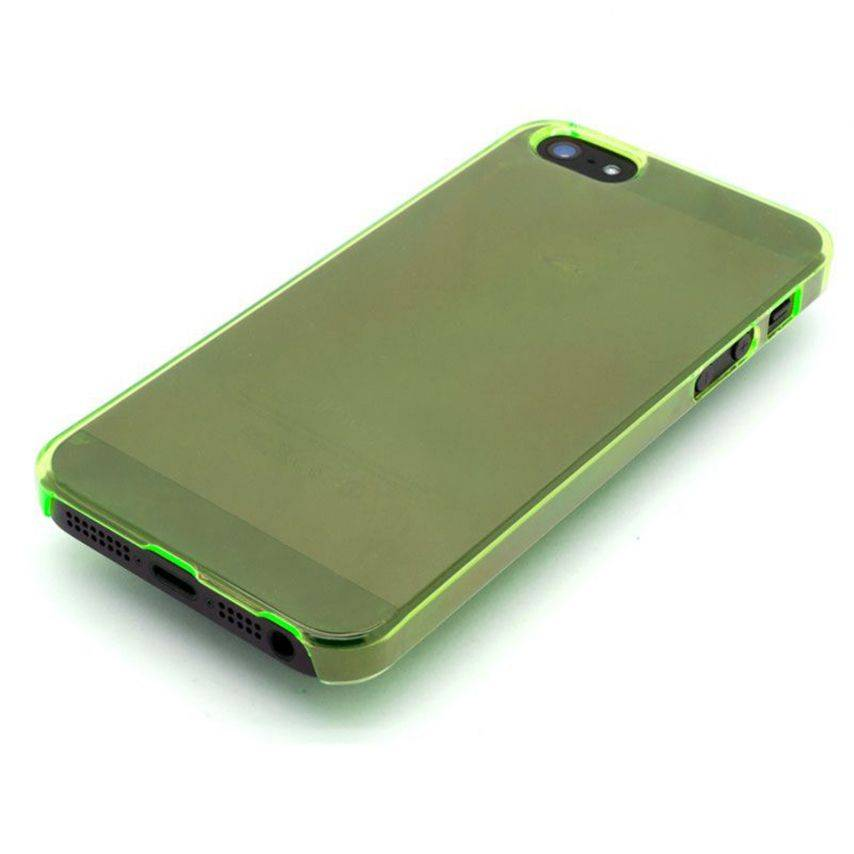 Visuel unique de Coque Crystal iPhone 5 Vert
