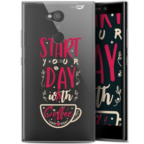 "Coque Gel Sony Xperia L2 (5.5"") Extra Fine Motif -  Start With Coffee"