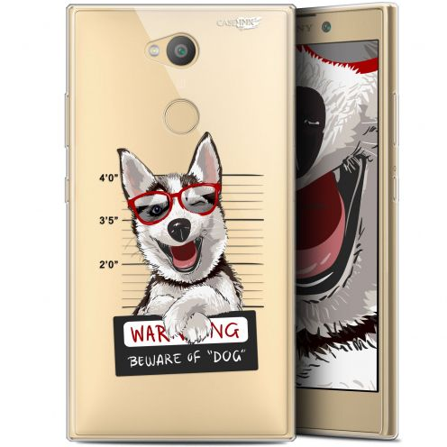 "Coque Gel Sony Xperia L2 (5.5"") Extra Fine Motif -  Beware The Husky Dog"