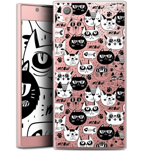 """Coque Gel Sony Xperia L1 (5.5"""") Extra Fine Motif -  Chat Noir Chat Blanc"""