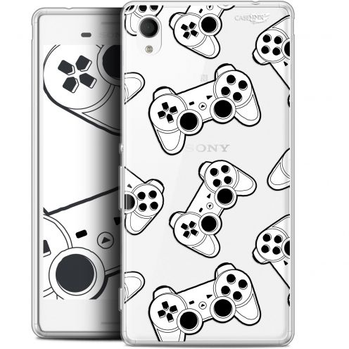 "Coque Gel Sony Xperia M4 Aqua (5"") Extra Fine Motif -  Game Play Joysticks"
