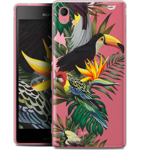 "Coque Gel Sony Xperia M4 Aqua (5"") Extra Fine Motif -  Toucan Tropical"