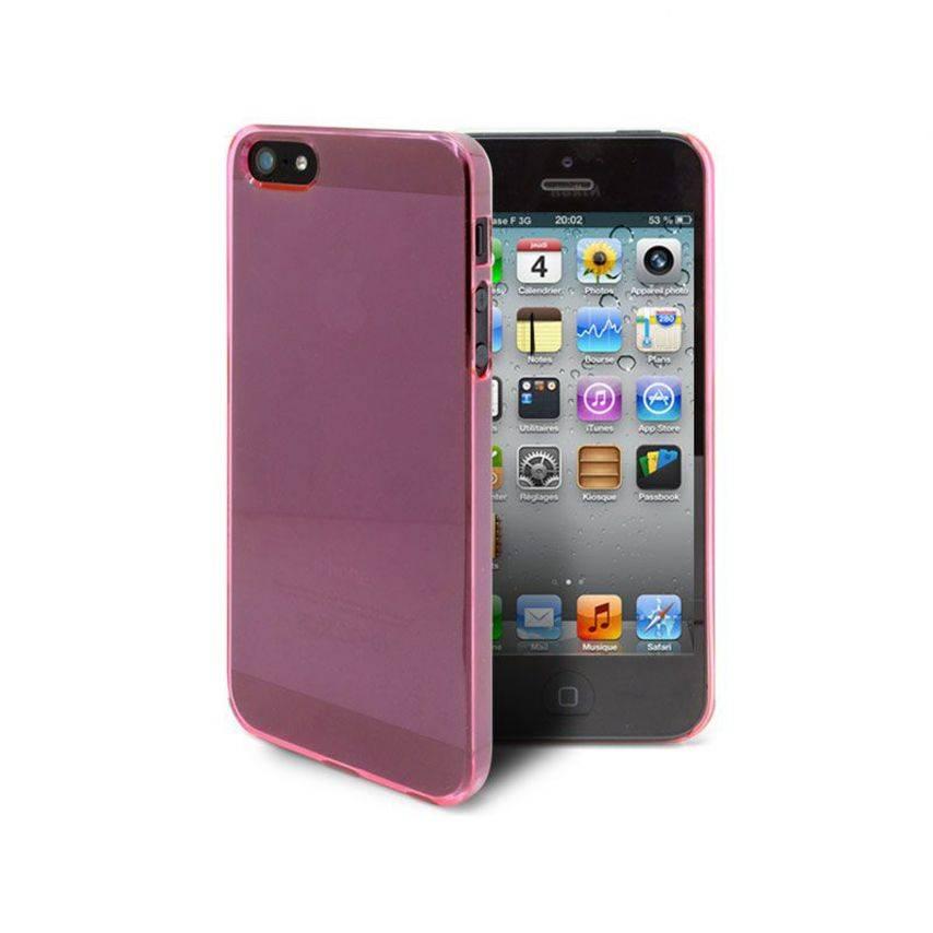 Vue complémentaire de Coque Crystal iPhone 5 Rose