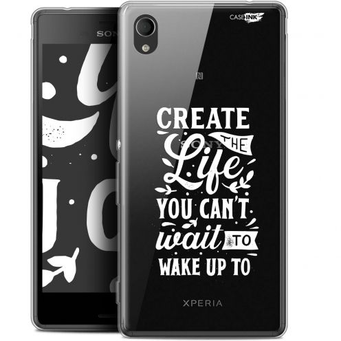 "Coque Gel Sony Xperia M4 Aqua (5"") Extra Fine Motif - Wake Up Your Life"