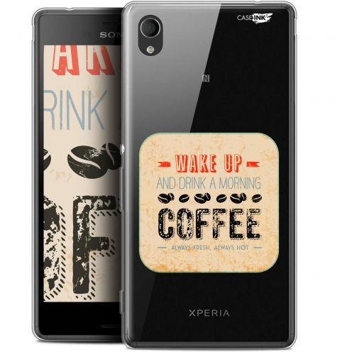 "Coque Gel Sony Xperia M4 Aqua (5"") Extra Fine Motif - Wake Up With Coffee"