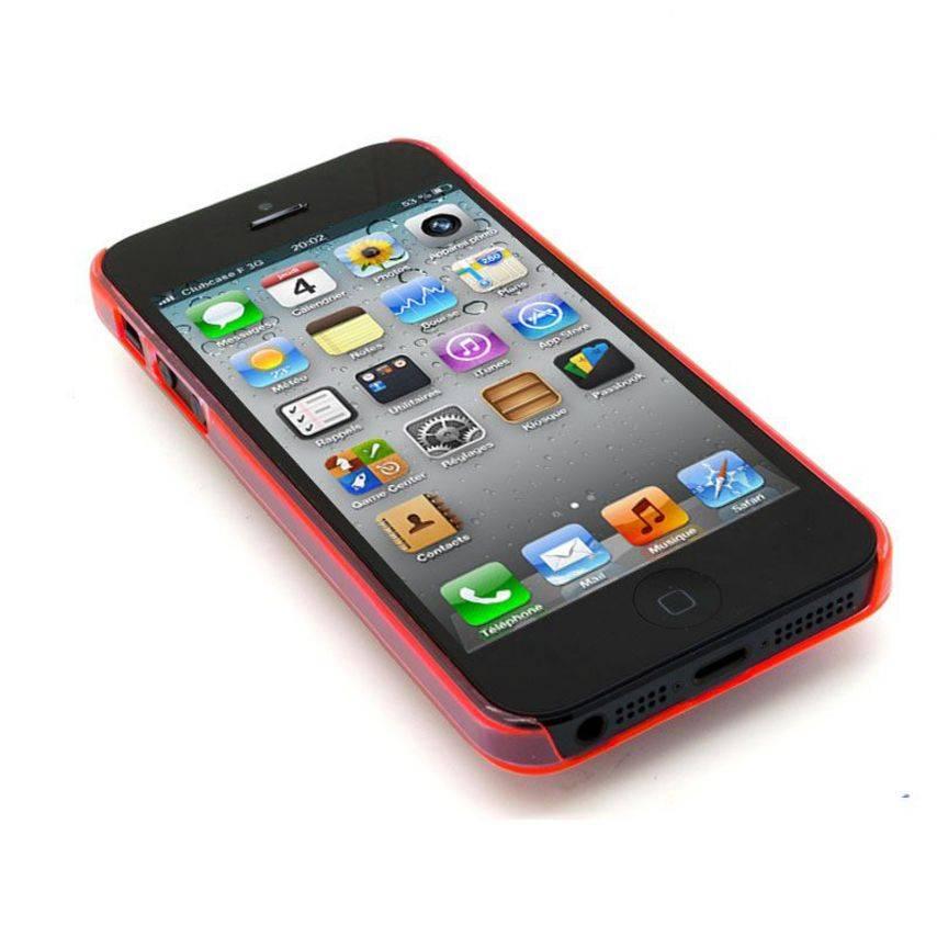Vue portée de Coque Crystal iPhone 5 Rose