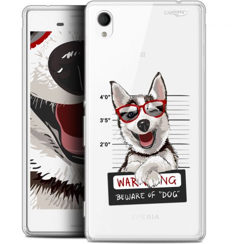 "Coque Gel Sony Xperia M4 Aqua (5"") Extra Fine Motif -  Beware The Husky Dog"