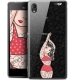 "Coque Gel Sony Xperia M4 Aqua (5"") Extra Fine Motif -  Tatoo Girl"
