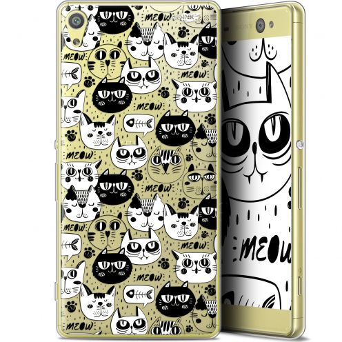 "Coque Gel Sony Xperia XA Ultra (6"") Extra Fine Motif - Chat Noir Chat Blanc"