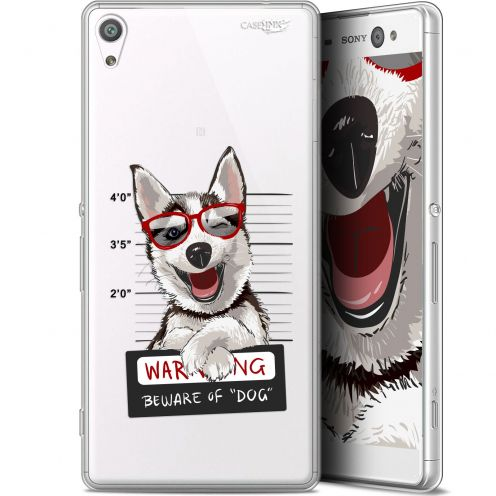 "Coque Gel Sony Xperia XA Ultra (6"") Extra Fine Motif -  Beware The Husky Dog"