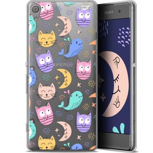 "Coque Gel Sony Xperia XA (5"") Extra Fine Motif - Chat Hibou"