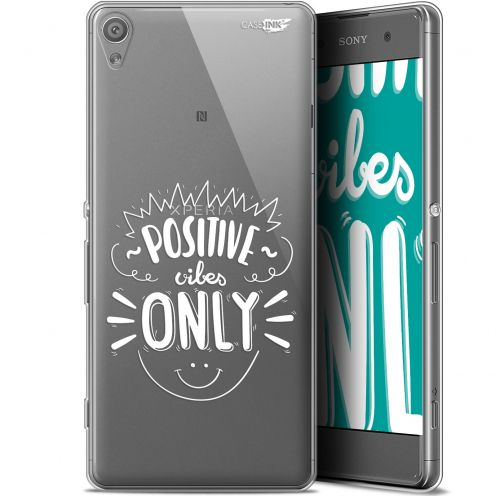 """Coque Gel Sony Xperia XA (5"""") Extra Fine Motif -  Positive Vibes Only"""
