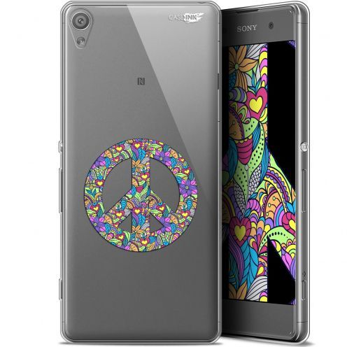 """Coque Gel Sony Xperia XA (5"""") Extra Fine Motif -  Peace And Love"""
