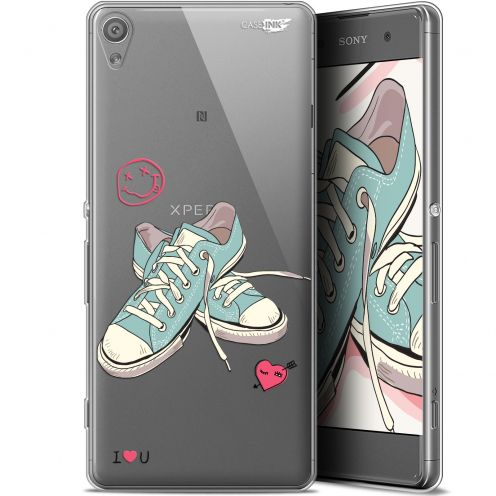 """Coque Gel Sony Xperia XA (5"""") Extra Fine Motif -  Mes Sneakers d'Amour"""