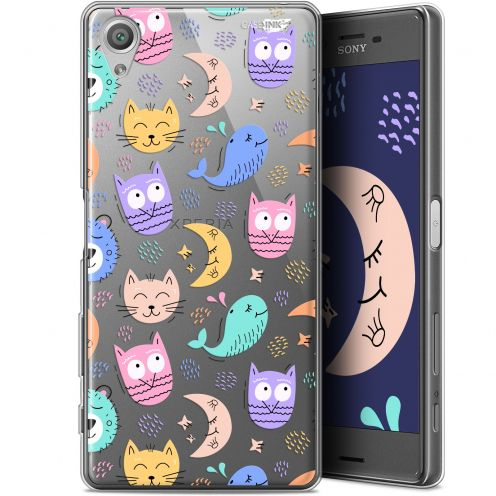 "Coque Gel Sony Xperia X (5"") Extra Fine Motif - Chat Hibou"