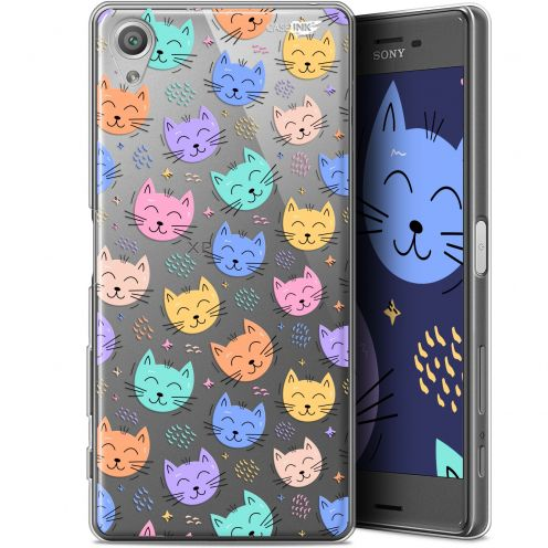 "Coque Gel Sony Xperia X (5"") Extra Fine Motif - Chat Dormant"