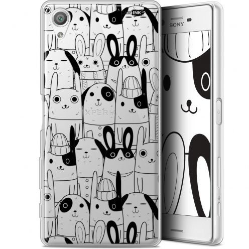 "Coque Gel Sony Xperia X (5"") Extra Fine Motif - Lapin Noir"