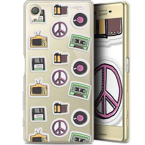 "Coque Gel Sony Xperia X (5"") Extra Fine Motif - Vintage Stickers"