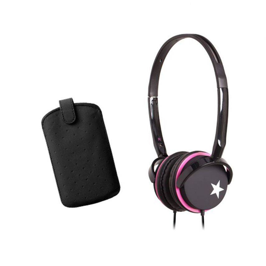 Zoom sur Coffret casque audio avec étui Blueway® So Stella Black edition