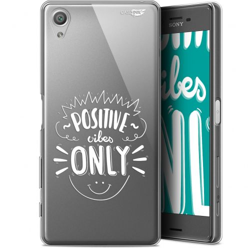 """Coque Gel Sony Xperia X (5"""") Extra Fine Motif -  Positive Vibes Only"""