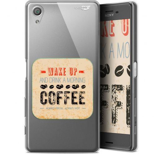 "Coque Gel Sony Xperia X (5"") Extra Fine Motif - Wake Up With Coffee"