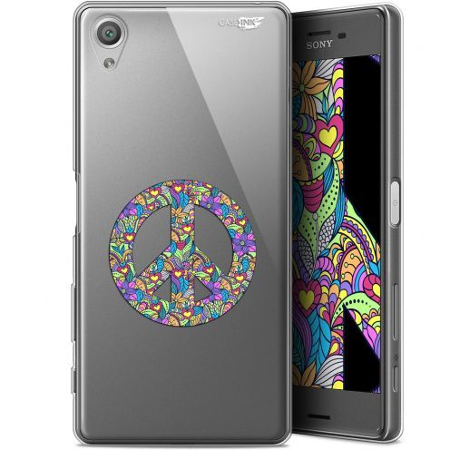 """Coque Gel Sony Xperia X (5"""") Extra Fine Motif -  Peace And Love"""