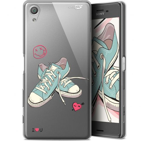 """Coque Gel Sony Xperia X (5"""") Extra Fine Motif -  Mes Sneakers d'Amour"""