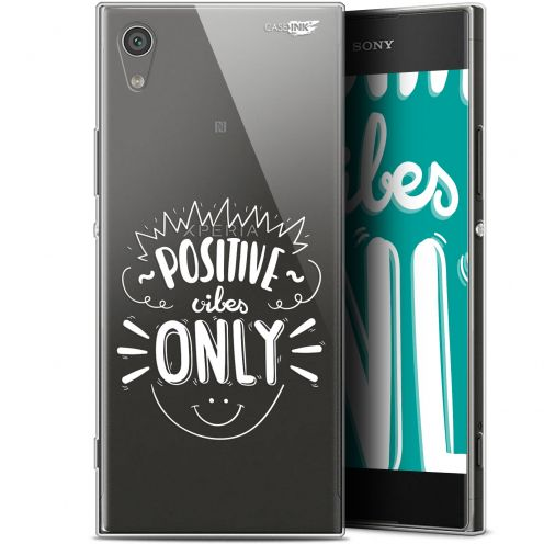 "Coque Gel Sony Xperia XA1 (5"") Extra Fine Motif - Positive Vibes Only"