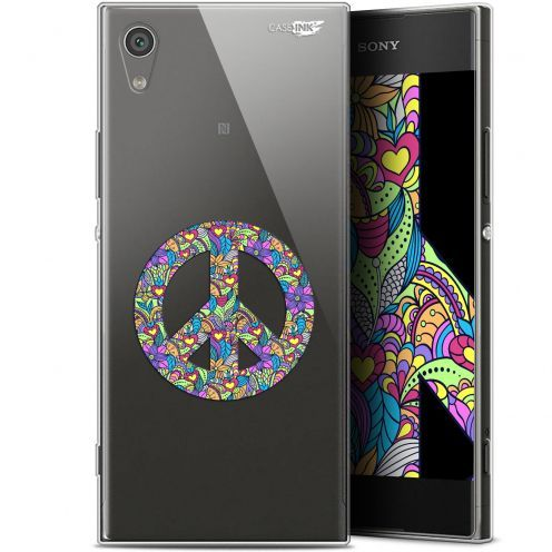 "Coque Gel Sony Xperia XA1 (5"") Extra Fine Motif - Peace And Love"