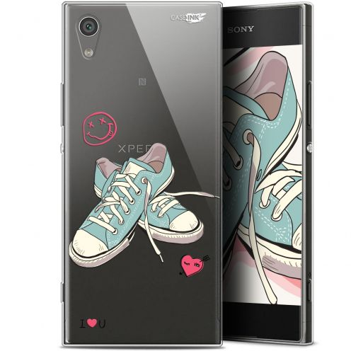 "Coque Gel Sony Xperia XA1 (5"") Extra Fine Motif - Mes Sneakers d'Amour"