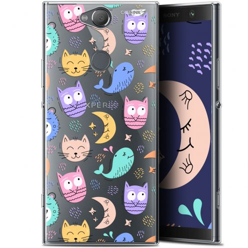 "Coque Gel Sony Xperia XA2 PLUS (6"") Extra Fine Motif -  Chat Hibou"