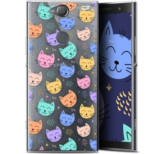 "Coque Gel Sony Xperia XA2 PLUS (6"") Extra Fine Motif -  Chat Dormant"