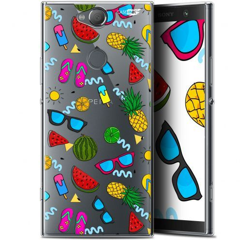 "Coque Gel Sony Xperia XA2 PLUS (6"") Extra Fine Motif -  Summers"