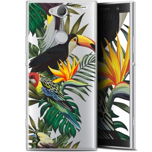 "Coque Gel Sony Xperia XA2 PLUS (6"") Extra Fine Motif -  Toucan Tropical"