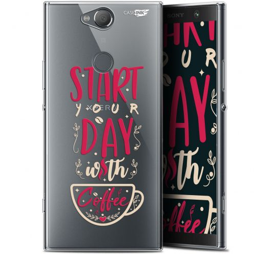 "Coque Gel Sony Xperia XA2 PLUS (6"") Extra Fine Motif -  Start With Coffee"