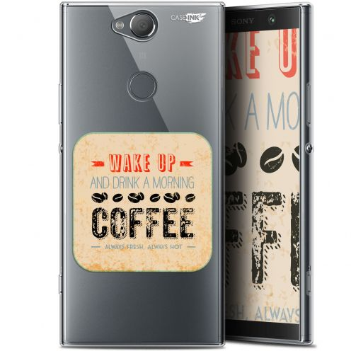 "Coque Gel Sony Xperia XA2 PLUS (6"") Extra Fine Motif -  Wake Up With Coffee"