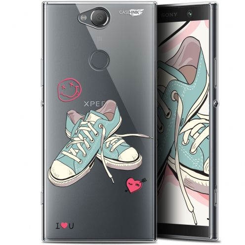 "Coque Gel Sony Xperia XA2 PLUS (6"") Extra Fine Motif - Mes Sneakers d'Amour"