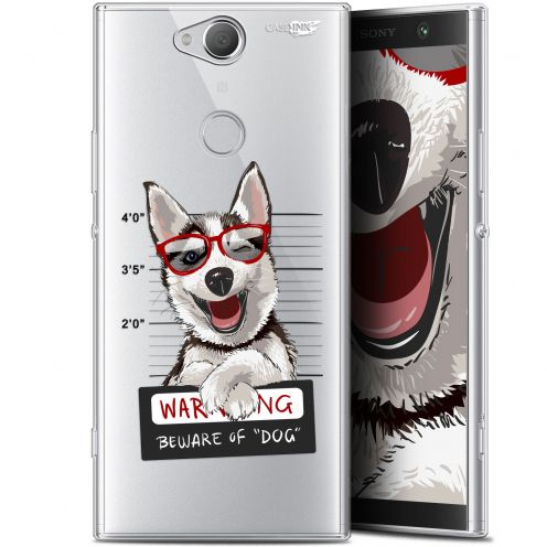 "Coque Gel Sony Xperia XA2 PLUS (6"") Extra Fine Motif -  Beware The Husky Dog"