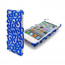 Coque iPhone 5 Rococo Design Bleue