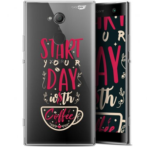 "Coque Gel Sony Xperia XA2 ULTRA (6"") Extra Fine Motif - Start With Coffee"