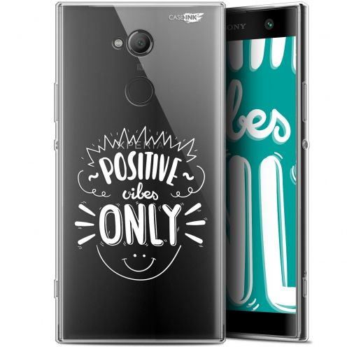 """Coque Gel Sony Xperia XA2 ULTRA (6"""") Extra Fine Motif -  Positive Vibes Only"""