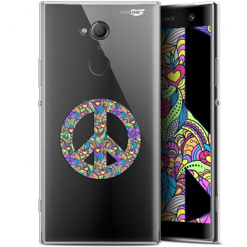 "Coque Gel Sony Xperia XA2 ULTRA (6"") Extra Fine Motif - Peace And Love"