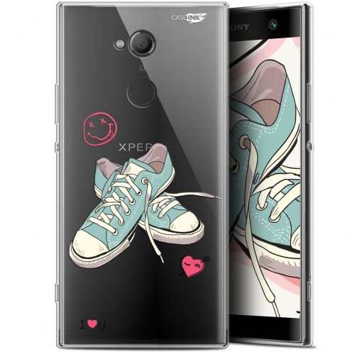 """Coque Gel Sony Xperia XA2 ULTRA (6"""") Extra Fine Motif -  Mes Sneakers d'Amour"""