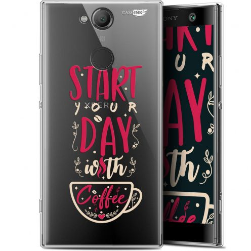 "Coque Gel Sony Xperia XA2 (5.2"") Extra Fine Motif - Start With Coffee"