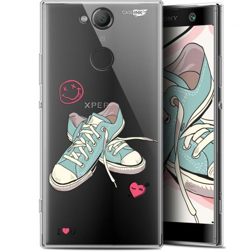 """Coque Gel Sony Xperia XA2 (5.2"""") Extra Fine Motif -  Mes Sneakers d'Amour"""