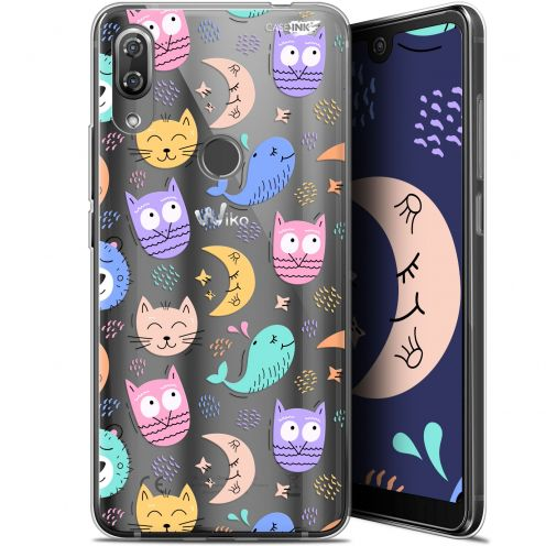 """Coque Gel Wiko View 2 Pro (6"""") Extra Fine Motif -  Chat Hibou"""