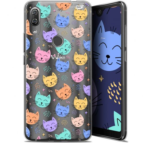 """Coque Gel Wiko View 2 Pro (6"""") Extra Fine Motif -  Chat Dormant"""