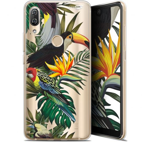 "Coque Gel Wiko View 2 Pro (6"") Extra Fine Motif - Toucan Tropical"